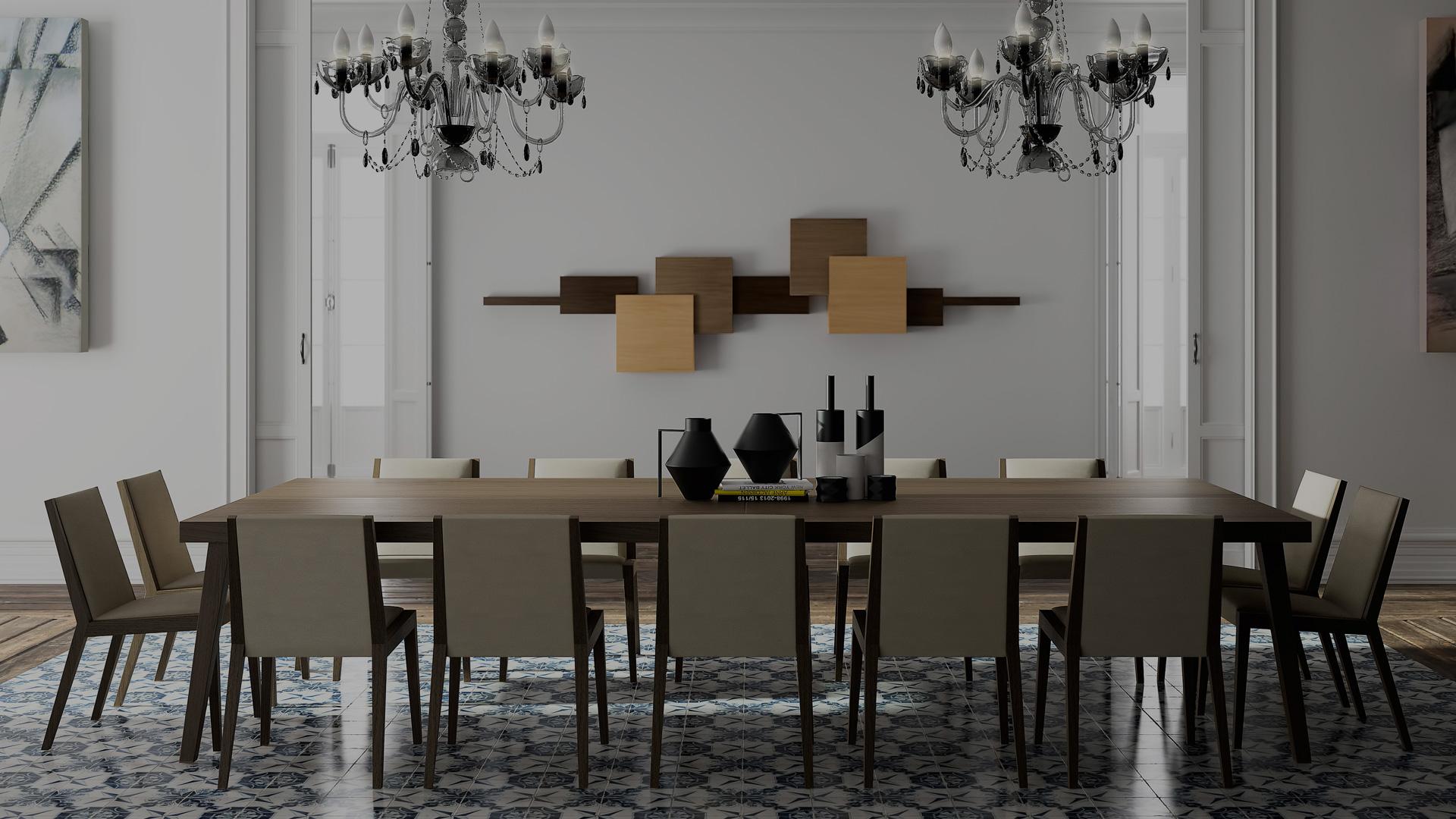 Современная мебель для столовых комнат